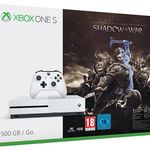 Xbox One S 500GB Konsole inkl. Mittelerde: Schatten des Krieges für 199€ (statt 235€)