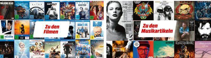 Media Markt Multibuy: 3 Games, Filme oder Musik zum Preis von 2 auf das volle Programm
