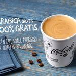 Arabica-Kaffee small kostenlos in allen Mc-Cafes – nur bis zum 15. November