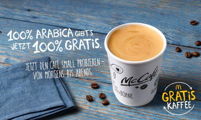 Arabica Kaffee small kostenlos in allen Mc Cafes   nur bis zum 15. November