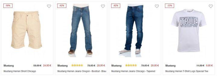 Jeans Direct mit bis zu 50% Rabatt auf ausgewählte MUSTANG Fashion