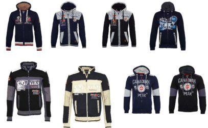 Geographical Norway Canadian Peak   Herren Jacken, Pullover und Sweater div. Modelle für je 28,99€