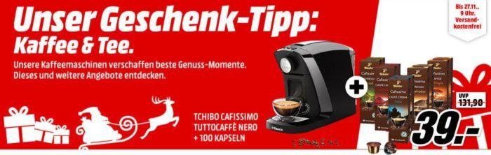 Tchibo Saeco Tuttocaffè Nero + 110 Kapseln für nur 39€
