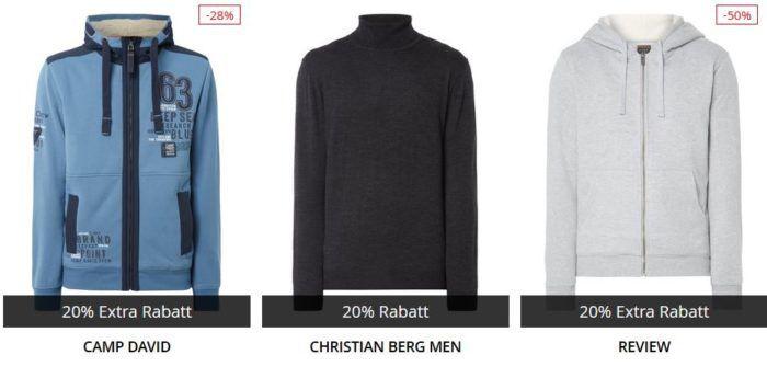 Bis 10 Uhr: Peek & Cloppenburg* 20% Rabatt auf Strick   u. Sweater Oberteile, Hosen und mehr