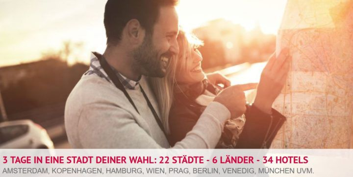 A&O Hotelgutschein für 2 Personen 3 Tage   22 Städte   6 Länder (opt. 2 Kinder) für 49€