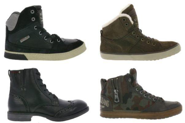 Replay Herren Boots Restgrößen   z.B. REPLAY Bersi Herren Echtleder Sneaker ab 49,99€