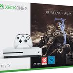 Xbox One S 1TB + Mittelerde: Schatten des Krieges + Star Wars Battlefront II  für 279€