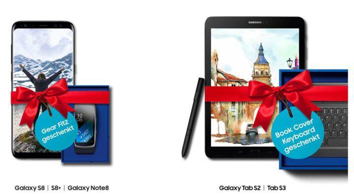 Tipp! Samsung Weihnachtsaktion: Samsung Smartuhr Gear Fit 2 Gratis beim Kauf eines Galaxy S8 oder Galaxy Note8
