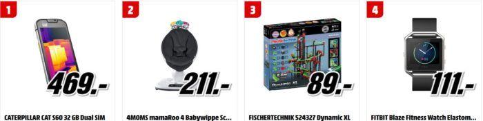 Media Markt Tiefpreisspätschau: u.a. 4MOMS mamaRoo 4 Babywippe statt 299€ für 211€