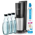 Brands4Friends Sodastream Aktion: z.B. Crystal V2 + 3 Glaskaraffen + CO2 Zylinder ab 84,99€