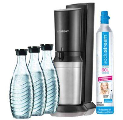 Brands4Friends Sodastream Aktion: z.B. Crystal V2 + 3 Glaskaraffen + CO2 Zylinder ab 84,99€
