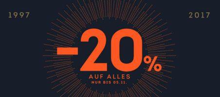 Top! Sportscheck Mega Jubiläumsale mit 20% auf ALLES   auch im Sale