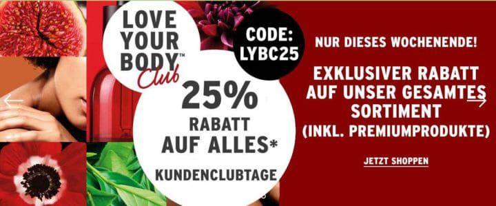 25% Rabatt bei The Body Shop auf (fast) alles + VSK frei ab 45€