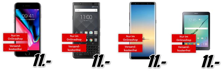 TOP! Media Markt Singles Days Verträge in der Übersicht   z.B. Galaxy S8 für 11€ + Vodafone Flat mit 2GB für 19,99€ mtl.