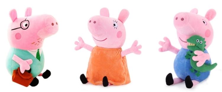 Verschiedene Peppa Pig Plüschspielzeuge ab 1,89€