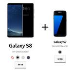 Samsung Galaxy Smartphones im Doppel – bspw. 2 x Galaxy A3 für 299€ oder Galaxy S8 + Galaxy S7 für 799€