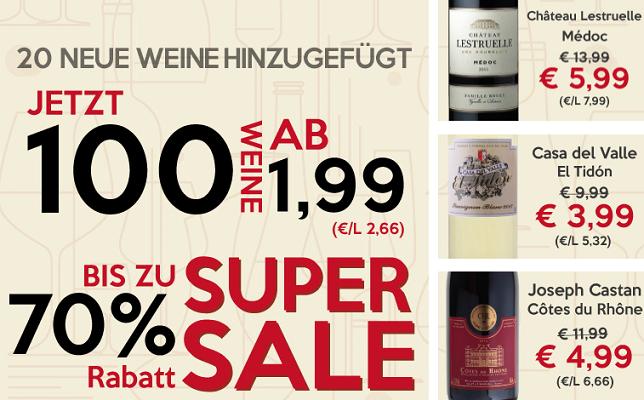 Weinvorteil Sale mit bis zu 70% Rabatt   z.B. Pluvium Premium Selection   Vino Tinto für 2,99€ pro Flasche (6 Flaschen MBW)