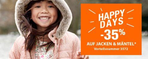 Vertbaudet mit 35% auf Jacken und Mäntel + 15€ Neukundengutschein ab 75€
