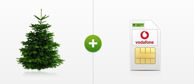 Vodafone Smart Surf mit 50 min. + 50SMS + 2GB Daten (14,4 MBits) + 1 Weihnachtsbaum für 4,99€ mtl.