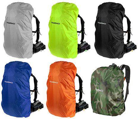 TOMSHOO Regenhülle / Rucksackschutz in verschiedenen Farben für je 0,85€
