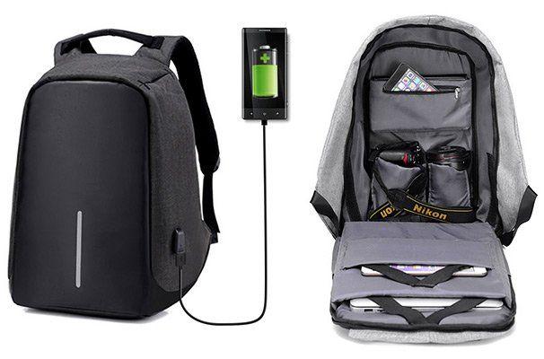 Outdoor  und Laptoprucksack mit USB & vielen Verstauungsmöglichkeiten für 11,18€