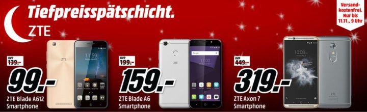 Media Markt ZTE Tiefpreisspätschicht   günstige Smartphones ab 99€