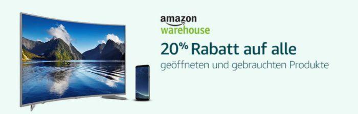 Amazon Black Week 2017: 20% Rabatt auf Amazon Warehousedeals Deutschland, UK, Italien und Frankreich