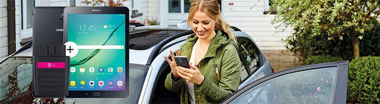 Telekom CarConnect mit 10GB LTE Flat + Galaxy Tab S2 (einmalig für 129€) für 9,95€ mtl.