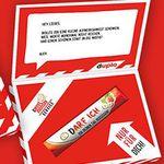 Duplo-Riegel mit persönlicher Grußbotschaft gratis verschicken