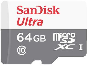 SanDisk 64GB ultra microSDXC (inkl. SD Adapter) für 14€ (statt 19€)