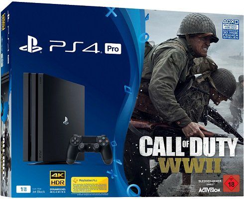 PlayStation 4 Pro 1 TB + Call of Duty WWII + Thats You für 377€ (statt 463€)