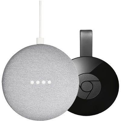 Google Home Mini + Google Chromecast für 53,10€ (statt 75€)