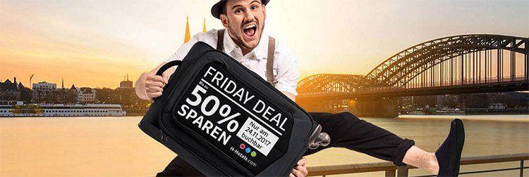 H Hotels Friday Deal: bis zu 50% Rabatt ab 2 ÜN + Gold Status (inkl. 1000 HotMiles)