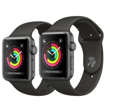 Geht jetzt! Apple Watch Series 3 GPS  42mm für 299,99€   Retouregerät (statt 350€)
