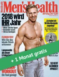 4 Ausgaben Mens Health für 17,70€ + Prämie: 16,20€ Verrechnungsscheck