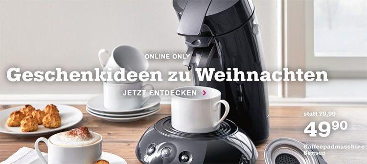 Mömax: Sale auf Küchengeräte z.B. Senseo HD6554/90 für 43,85€ (statt 60€)