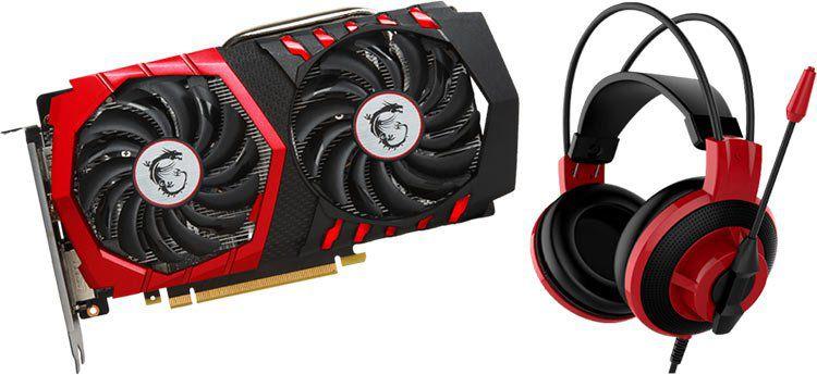 MSI GeForce GTX 1050Ti Gaming X 4GB (V335 001R) + MSI DS501 Headset inkl. Rocket League Download Code für 169€ (statt 198€)