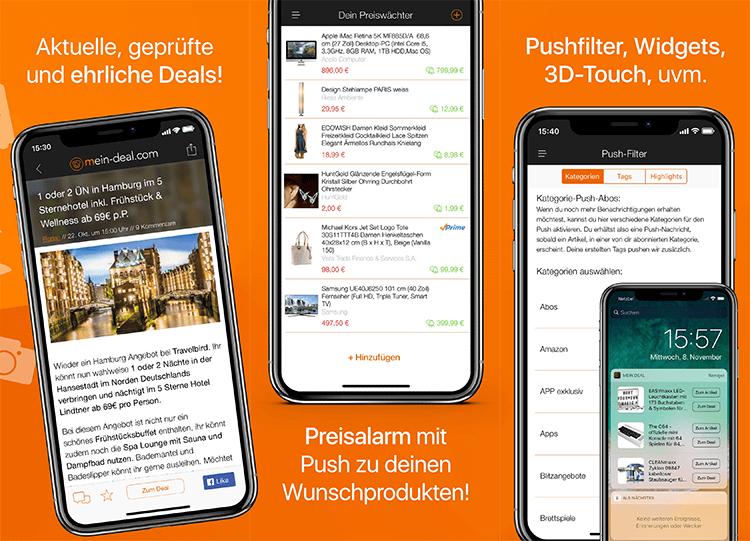 (Die Gewinner) Neue Mein Deal.com iOS App mit neuen Features testen + Gewinnspiel