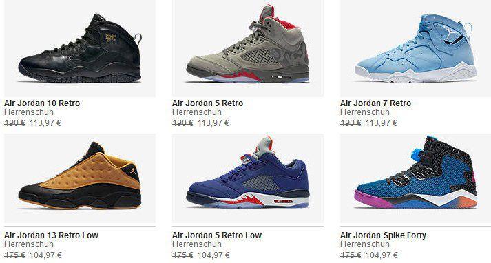 40% Rabatt auf ausgewählte Nike Jordan Retro Styles wie, z.B. AIR JORDAN 2 RETRO DECON für 65,97€ (statt 112€)