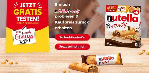Nutella B ready gratis ausprobieren