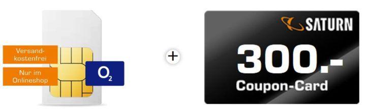 o2 Free S Tarif inkl. Allnet + SMS Flat + 1 GB Daten + 300€ Saturn Gutschein für 19,99€ mtl.
