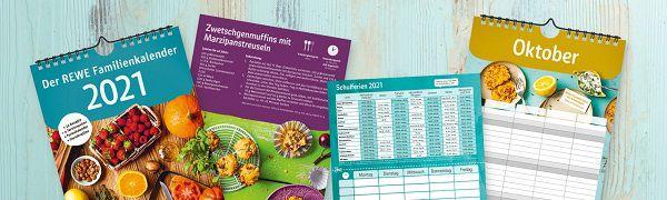 Kostenloser Rewe Familienkalender 2021   ab jetzt in den Märkten verfügbar