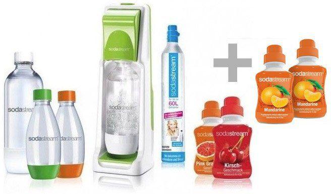 Sodastream Cool inkl. 4 PET Flaschen, 4x Sirup und CO2 Zylinder für 44,90€ (statt 68€)