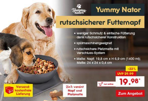 Yummy Nator rutschsicherer Futternapf aus der Höhle der Löwen für 19,98€