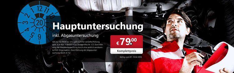 A.T.U: Gutschein für Haupt  und Abgasuntersuchung 2018 nur 79€