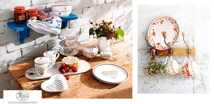 Hutschenreuther Sale mit Geschirr und Geschirrsets bei Vente Privee   z.B. 6er Frühstücksset Hearts ab 45,90€