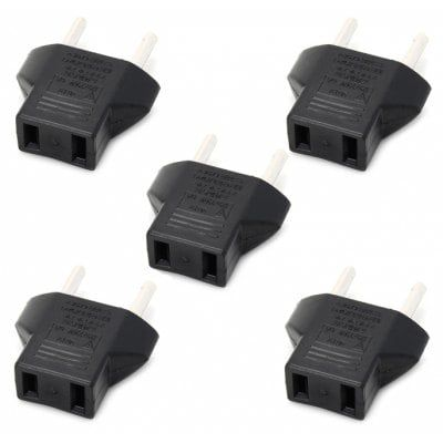 5er Pack US auf EU Stromadapter für 1,16€