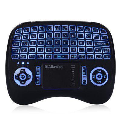Alfawise KP   810   21T   RGB 2.4G Wireless Keyboard mit Touchpad für 6,99€