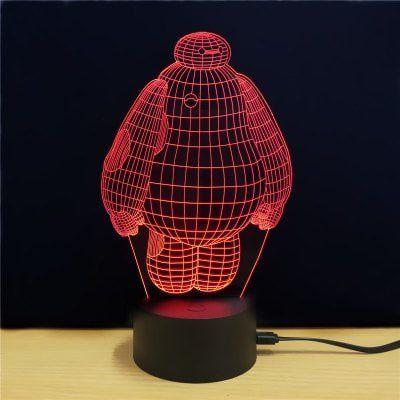 3D Lampe Baymax für 3,41€