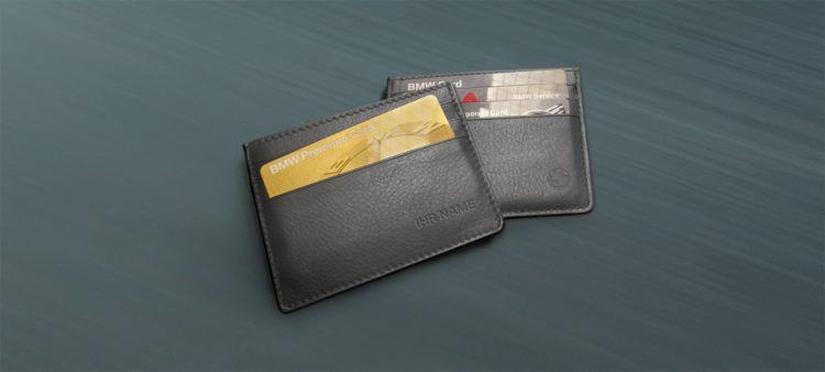 Für BMW Fahrer: Kostenloses Echtleder Kartenetui mit persönlicher Prägung & Service Informationen